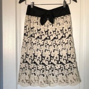 """NWOT Anthropologie """"lil"""" lace skirt. Size 0."""